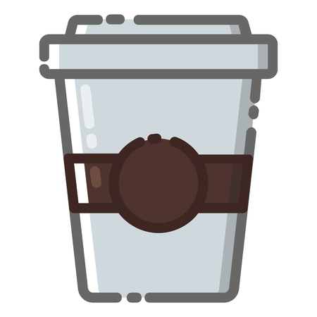 Coffee cup icon with MBE style you can use for all kinds of projects Иллюстрация
