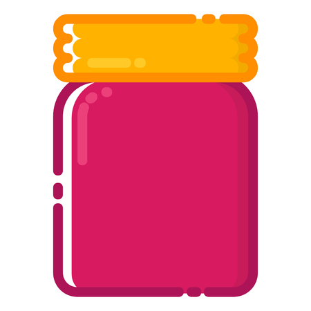 Coffee jar icon with MBE style you can use for all kinds of projects Ilustração