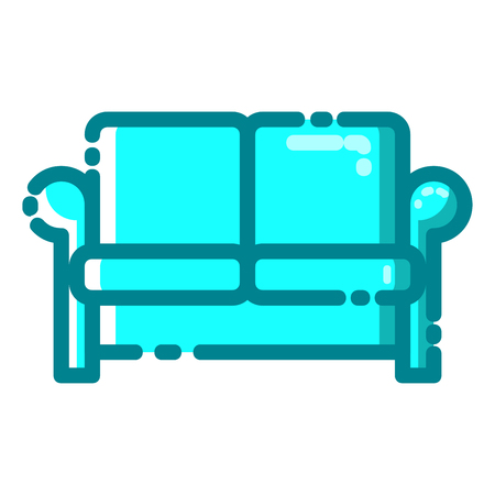Sofa icon with MBE style you can use for all kinds of projects