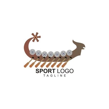 Dragon Boat Sport Vector Logo Illustration