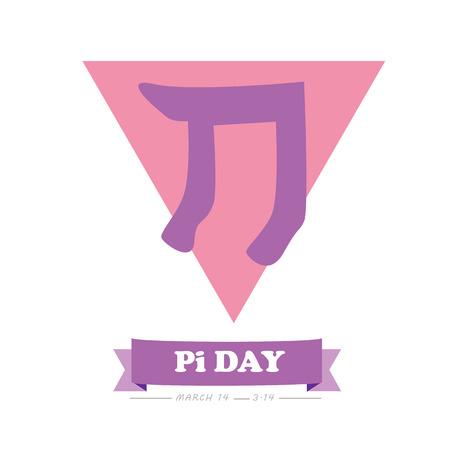 constant: Pi day Logo Vector Illustration