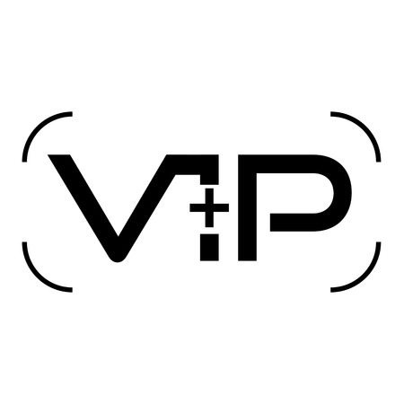 privilege: VIP club logos set in flat style