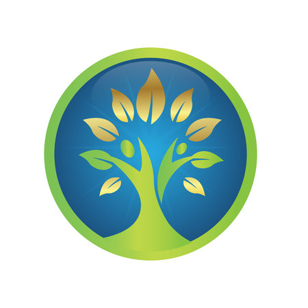 Tree, plant, people, naturopath, logo