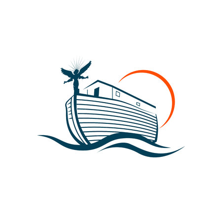 ship, boat front icon on white background