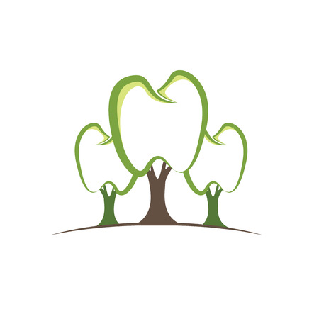 abstracto: Tooth medical care logo, Tree of dental Illustration