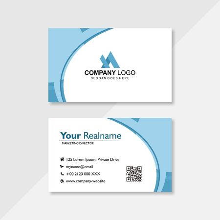 business card in clear white
