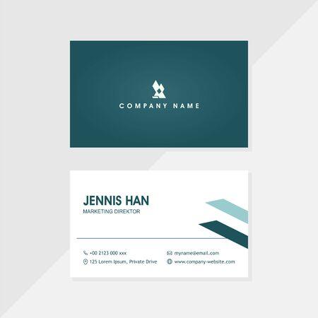dark simple business card Ilustración de vector