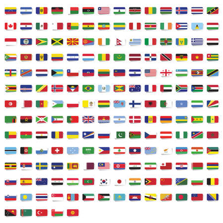 Set of national flags of the world
