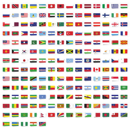 Set of national flags of the world Vetores