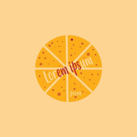 a flat logo pizza background 일러스트