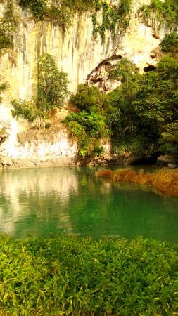landscape in indonesia tours, river tops Reklamní fotografie