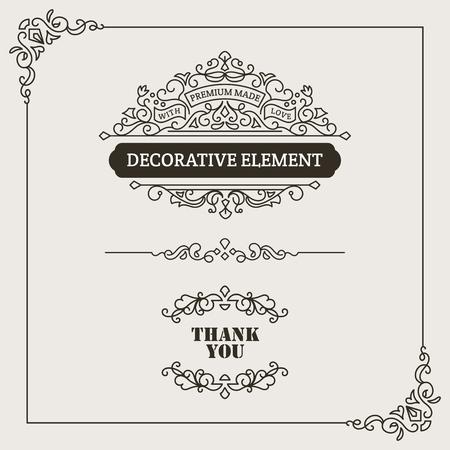 Decorative Design Set. For any purpose of your designs such us certificate, invitation, print designs, web designs, etc. Vetores
