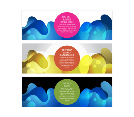 Set of abstract banner background designs in vector format, for your design needs such us promotional, campaign, newsletter, web, etc Stock Illustratie