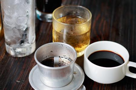 iced coffee: Vietnam Iced Coffee Stock Photo