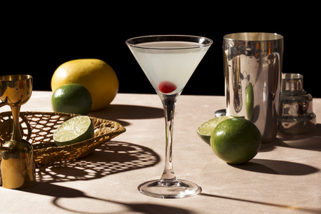 Hemingway Special, an any time cocktail based on the Floridita Daiquiri and is recognised by the IBA. It is made with rum, lime juice, maraschino liqueur, and grapefruit juice
