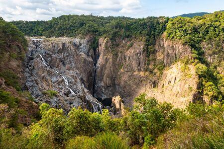 View of the Barron Falls near the aboriginal village of Kuranda in north Queensland, Australia