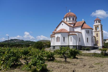 kreta: Greek Church Crete Stock Photo