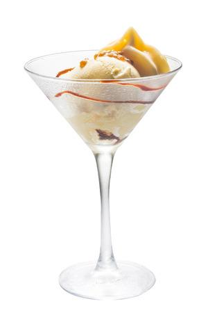 Vanille-ijs met koffie