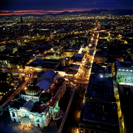 down lights: Mexico City