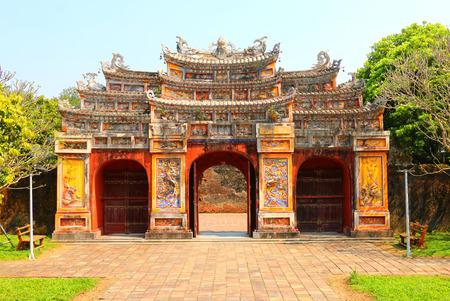 Gate of the Forbidden City at Hue,Vietnam