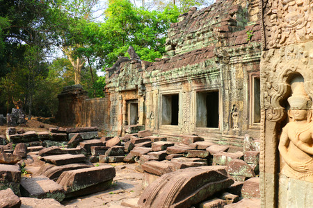 The temple of Ta Prohm, Siem Reap,Cambodia Stock Photo