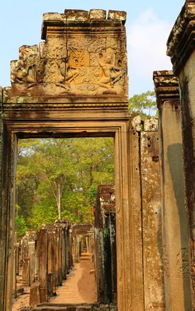 Angkor Wat, doorway,Cambodia