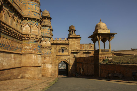 Gwalior fort in Madhya Pradesh, India. Фото со стока