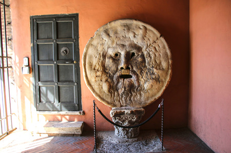 The Mouth of Truth (Bocca della Verita), Church of Santa Maria in Cosmedin in Rome, Italy