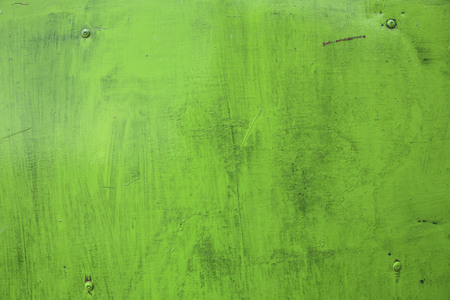 Rusty green metal texture. Industrial background. Green rusty iron plate.