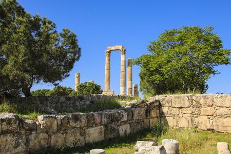 Temple of Hercules of the Amman Citadel complex (Jabal al-Qala), Amman, Jordan.