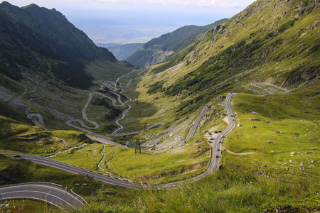 Transfagarasan highway in the Carpathian Mountains, Romania, Eastern Europe.