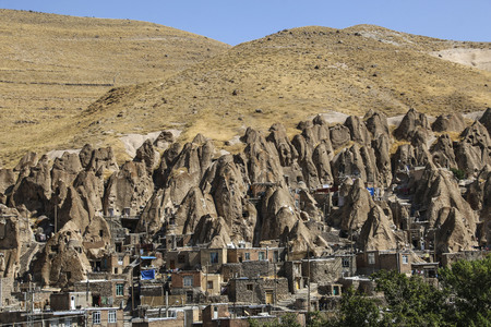 View of rock village Kandovan. East Azerbaijan province. Iran Фото со стока