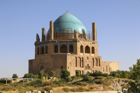 Dome of Soltaniyeh is an ancient mausoleum near Zanjan city, Iran.