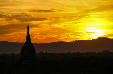 Sunset in Bagan, Myanmar (Burma)