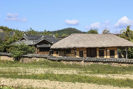 Andong Hahoe Folk Village in Andong, South Korea. UNESCO world heritage. Imagens