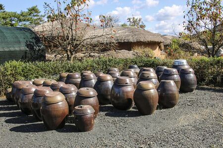 Andong Hahoe Folk Village in Andong, South Korea. Imagens