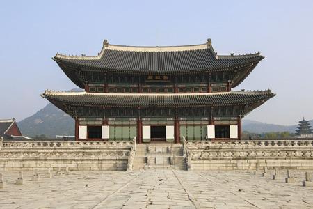 Geunjeongjeon, the throne hall of Gyeongbokgung palace in Seoul, South Korea.