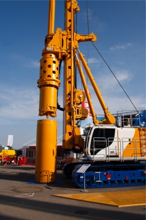 driller: Drilling machine Stock Photo