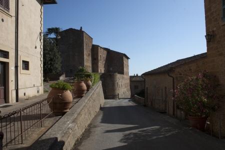 A street of Castelfalfi, Tuscany, Italy photo