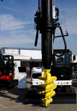 A yellow brand new drilling machine Stock Photo - 16805642