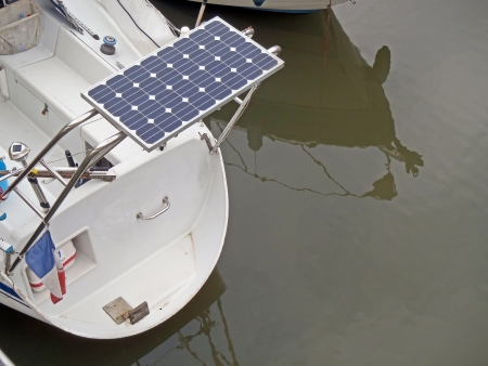 Solar panel of a boat photo