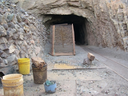old mining building: Old silver mine in Tierra Amarilla, Chile