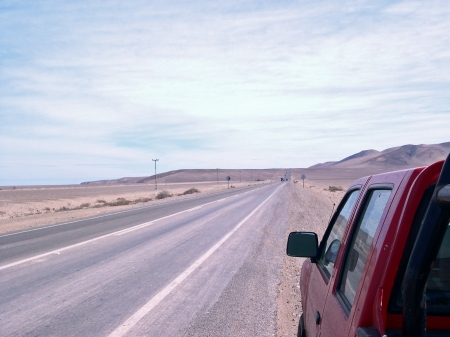 Chile. Pan-American Highway. Stradale photo
