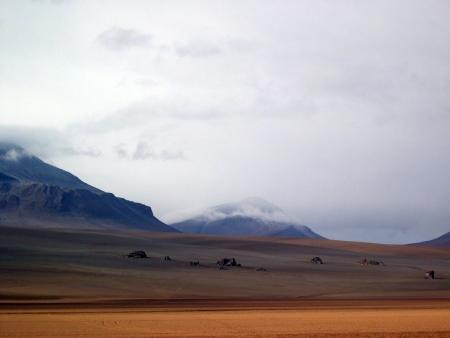 Salvador Dali Desert in the Bolivian Altipiano Stock Photo - 18552695