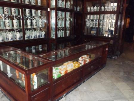 habana: Habana, Cuba - April 23, 2012  traditional pharmacy in Habana which is full of ancient stuff