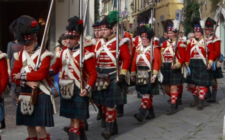 Sarzana, Italy - September 28, 2013  commemorative and historical fest of the Napoleonic Wars which is celebrated every two years in the medieval town of Sarzana, Liguria Italy  It is called Sarzana Napoleon festival Stock Photo - 24410013