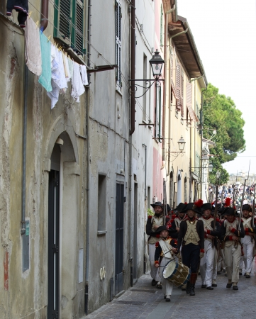 Sarzana, Italy - September 28, 2013  commemorative and historical fest of the Napoleonic Wars which is celebrated every two years in the medieval town of Sarzana, Liguria Italy  It is called Sarzana Napoleon festival Stock Photo - 24410022