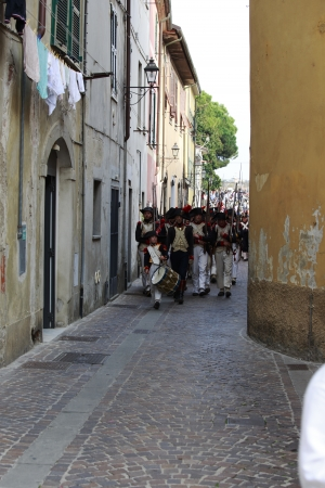 Sarzana, Italy - September 28, 2013  commemorative and historical fest of the Napoleonic Wars which is celebrated every two years in the medieval town of Sarzana, Liguria Italy  It is called Sarzana Napoleon festival Stock Photo - 24410023