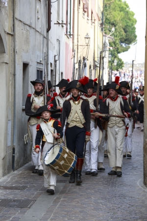 Sarzana, Italy - September 28, 2013  commemorative and historical fest of the Napoleonic Wars which is celebrated every two years in the medieval town of Sarzana, Liguria Italy  It is called Sarzana Napoleon festival Stock Photo - 24410024
