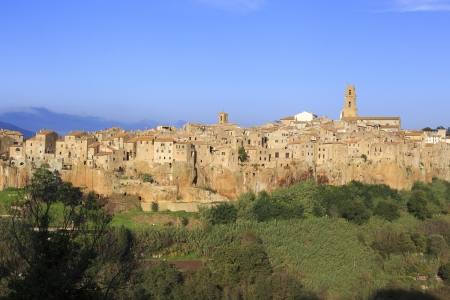 Pitigliano, hilltop town photo